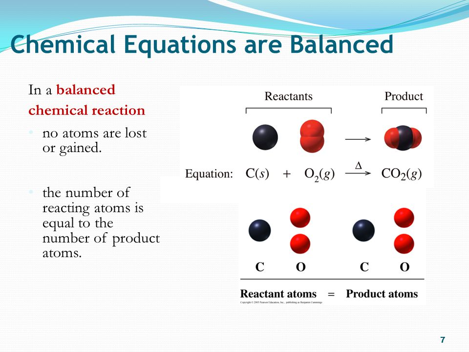 Chemical Equations are Balanced