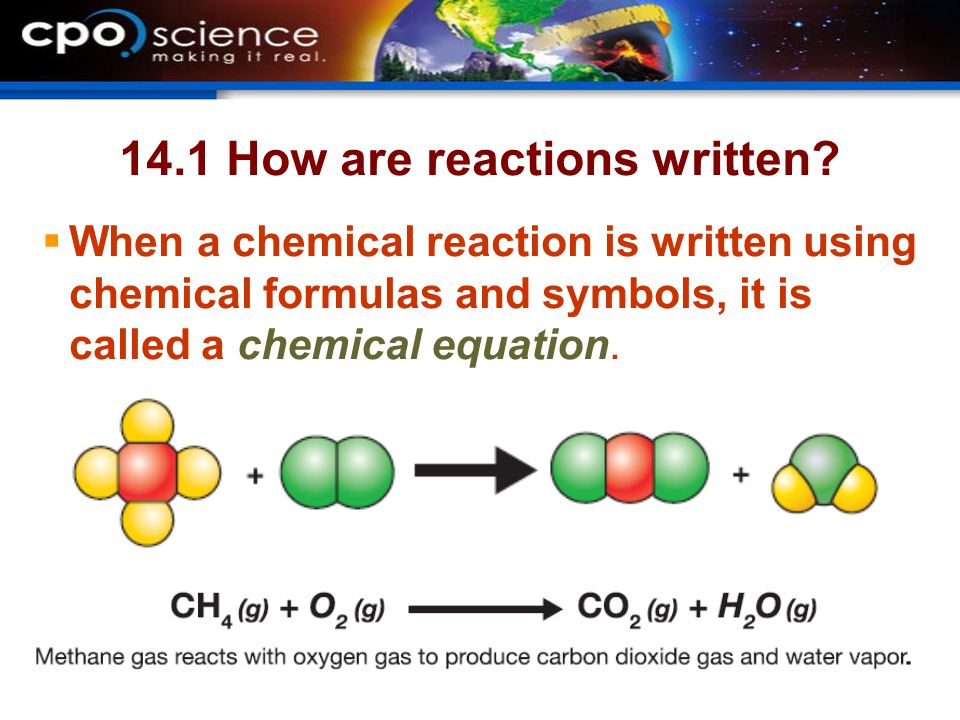 14.1 How are reactions written