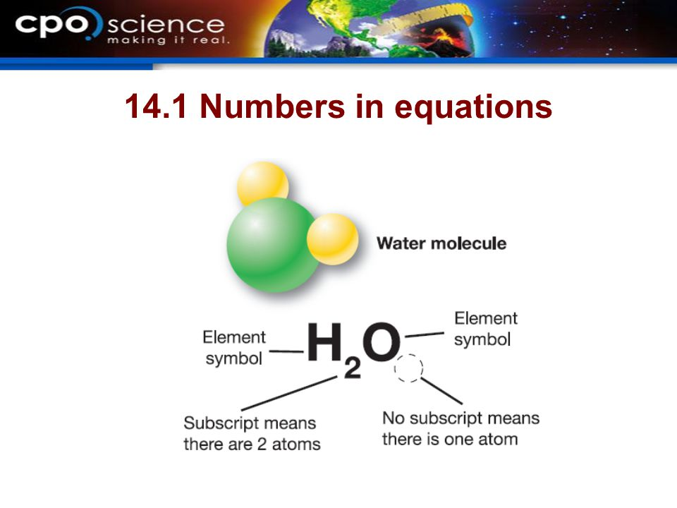 14.1 Numbers in equations