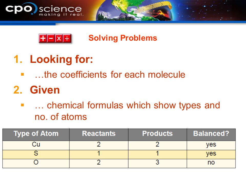 Looking for: Given …the coefficients for each molecule