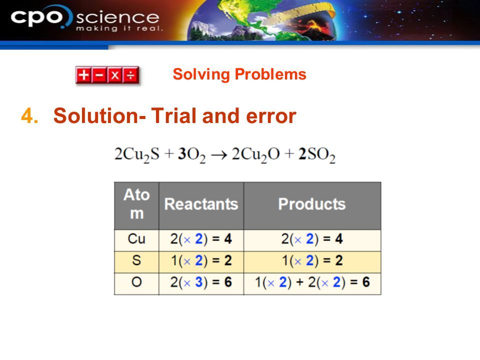 Solution- Trial and error