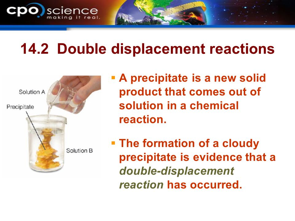 14.2 Double displacement reactions