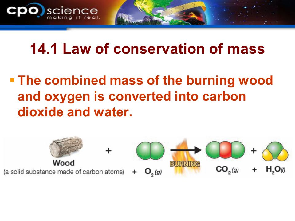 14.1 Law of conservation of mass