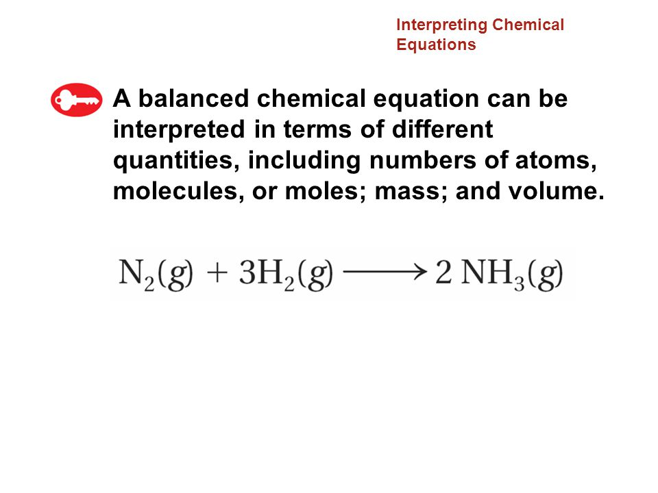 Interpreting Chemical Equations