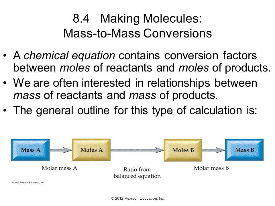 8.4 Making Molecules: Mass-to-Mass Conversions
