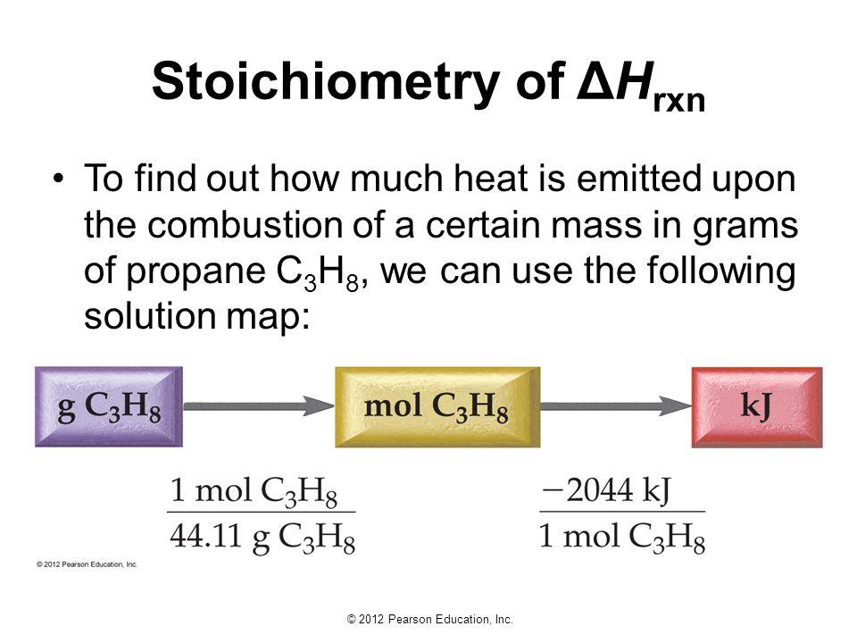 Stoichiometry of ΔHrxn