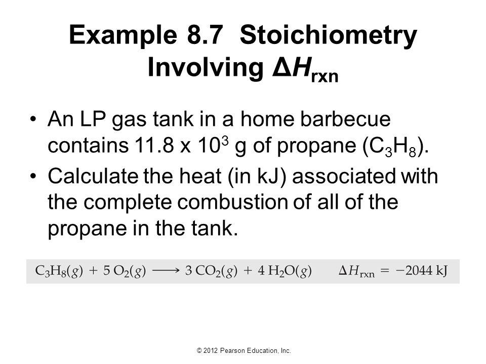 Example 8.7 Stoichiometry Involving ΔHrxn