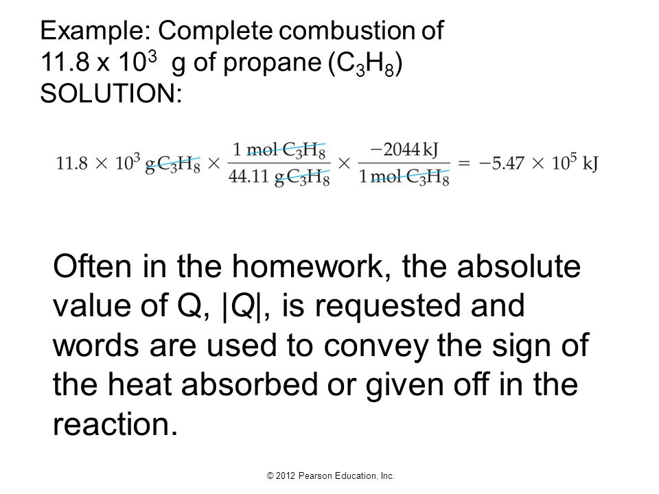 Example: Complete combustion of 11