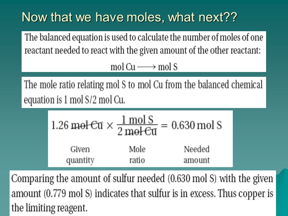 Now that we have moles, what next