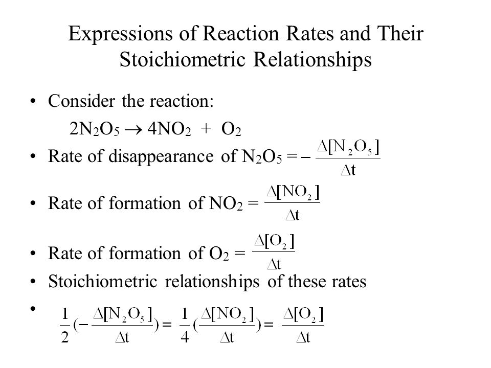 Expressions of Reaction Rates and Their Stoichiometric Relationships