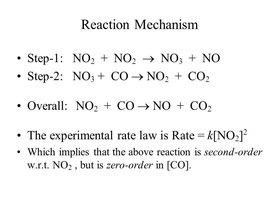 Reaction Mechanism Step-1: NO2 + NO2  NO3 + NO