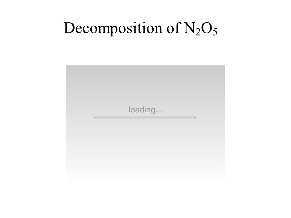 Decomposition of N2O5