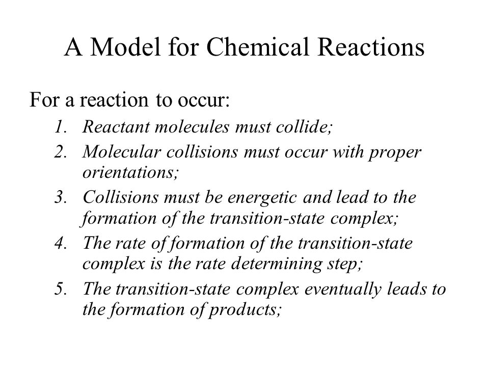A Model for Chemical Reactions