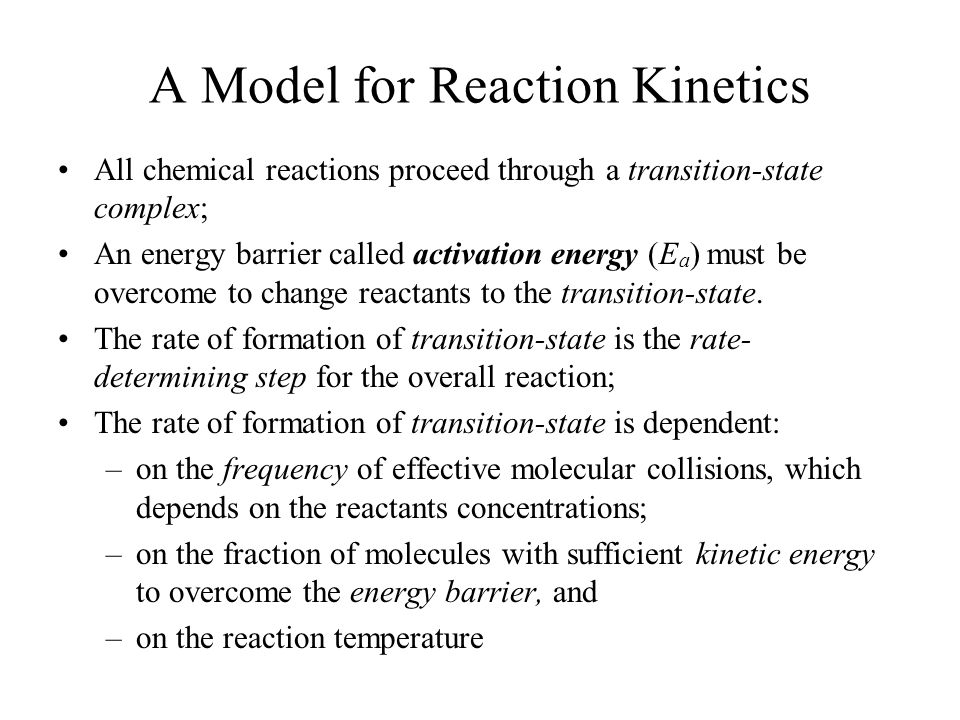 A Model for Reaction Kinetics