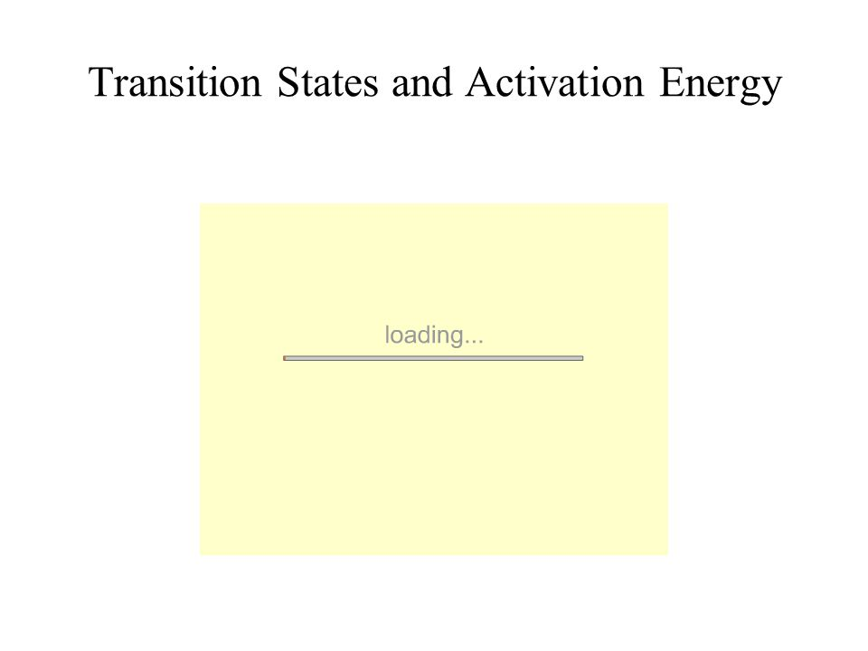 Transition States and Activation Energy