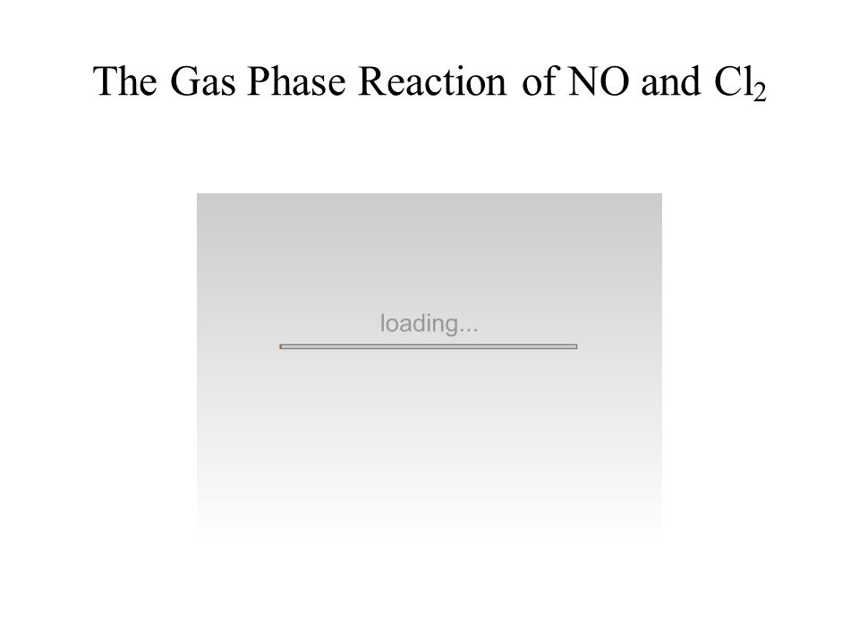 The Gas Phase Reaction of NO and Cl2