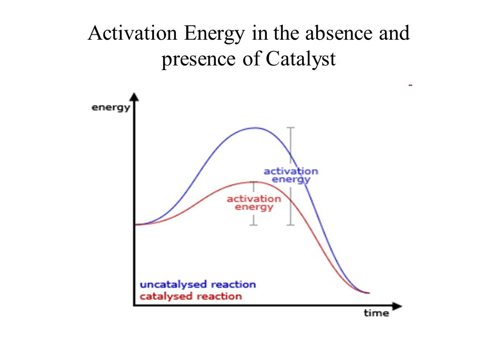 Activation Energy in the absence and presence of Catalyst
