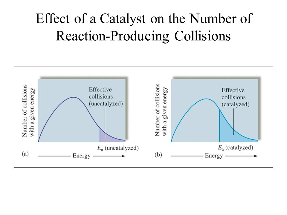 Effect of a Catalyst on the Number of Reaction-Producing Collisions