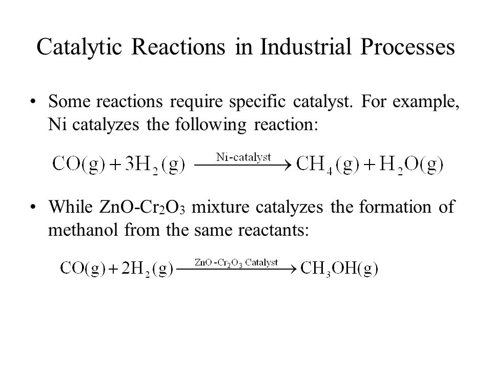 Catalytic Reactions in Industrial Processes