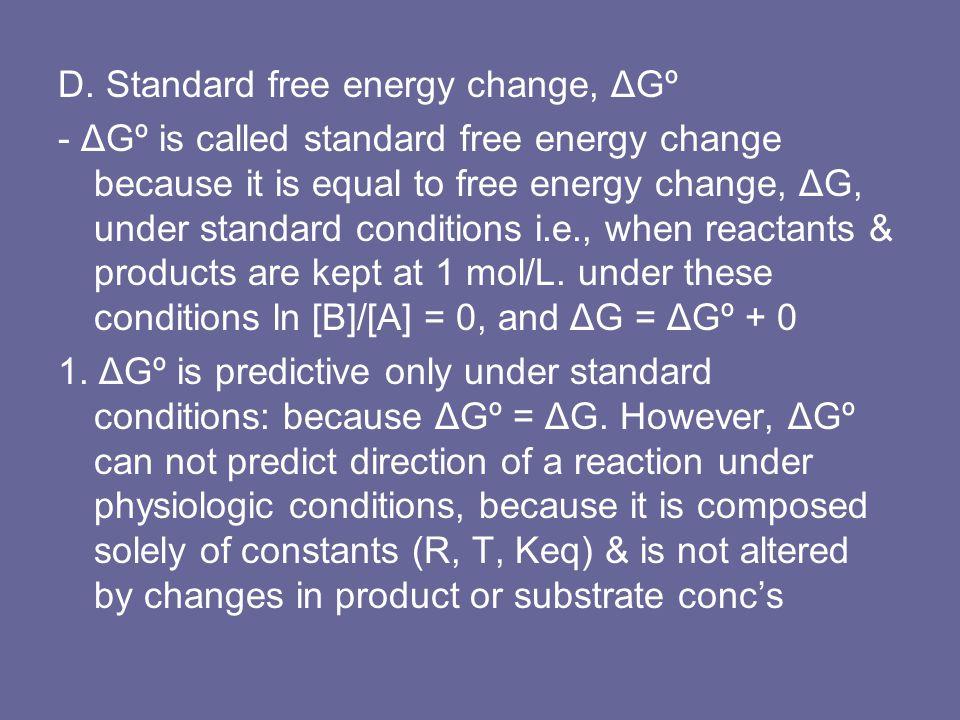 D. Standard free energy change, ΔGº
