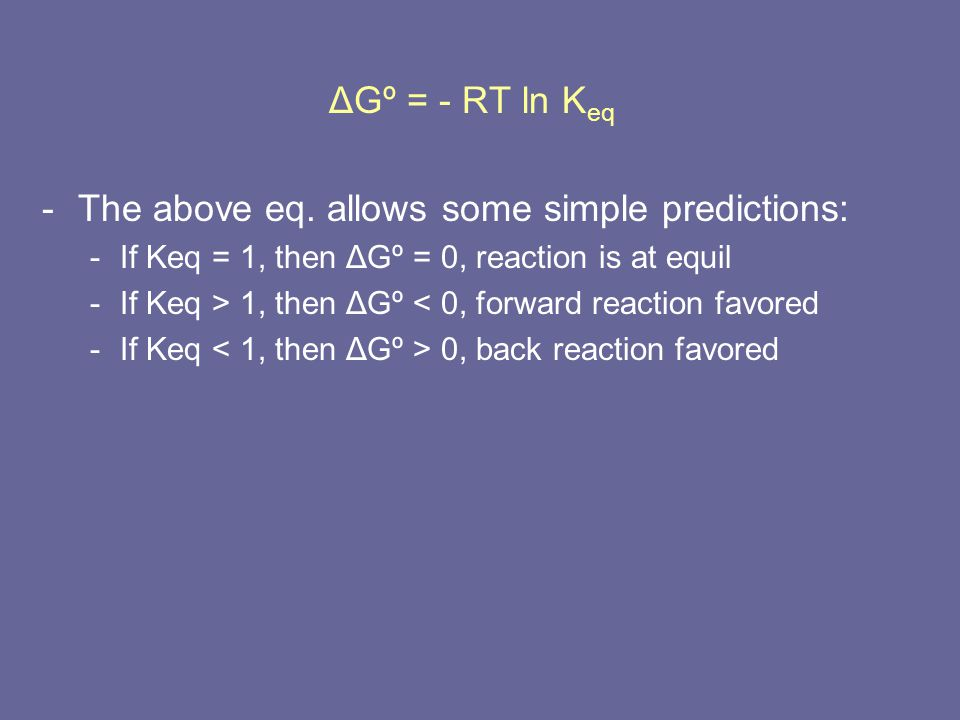 The above eq. allows some simple predictions: