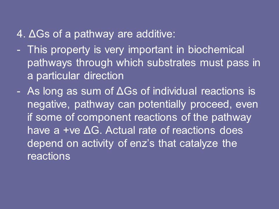 4. ΔGs of a pathway are additive: