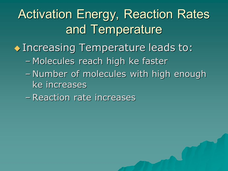 Activation Energy, Reaction Rates and Temperature
