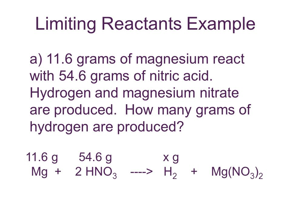 Limiting Reactants Example