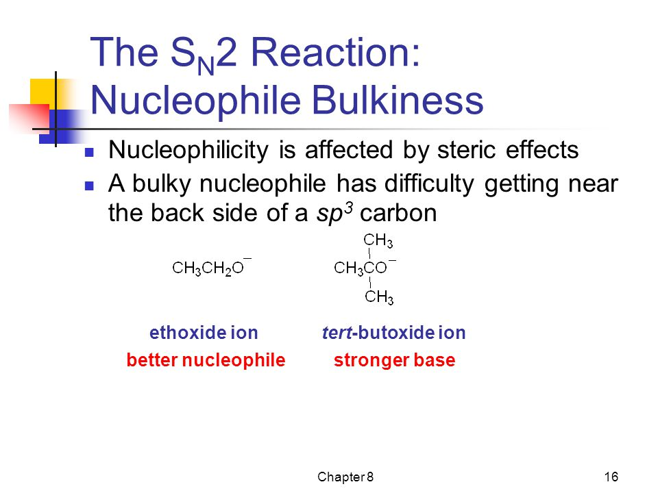 The SN2 Reaction: Nucleophile Bulkiness