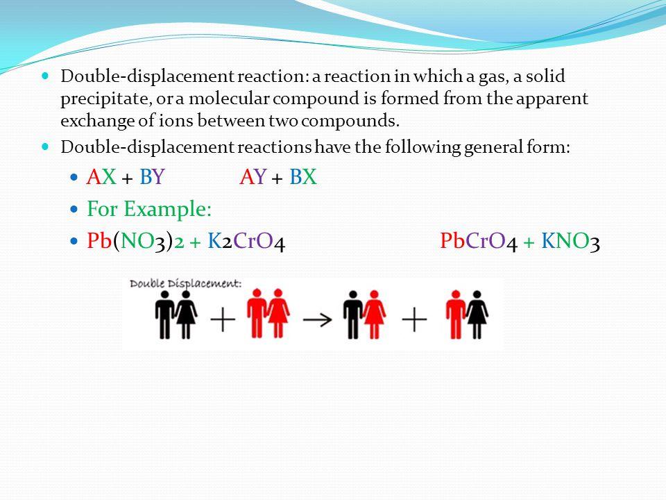 Pb(NO3)2 + K2CrO4 PbCrO4 + KNO3