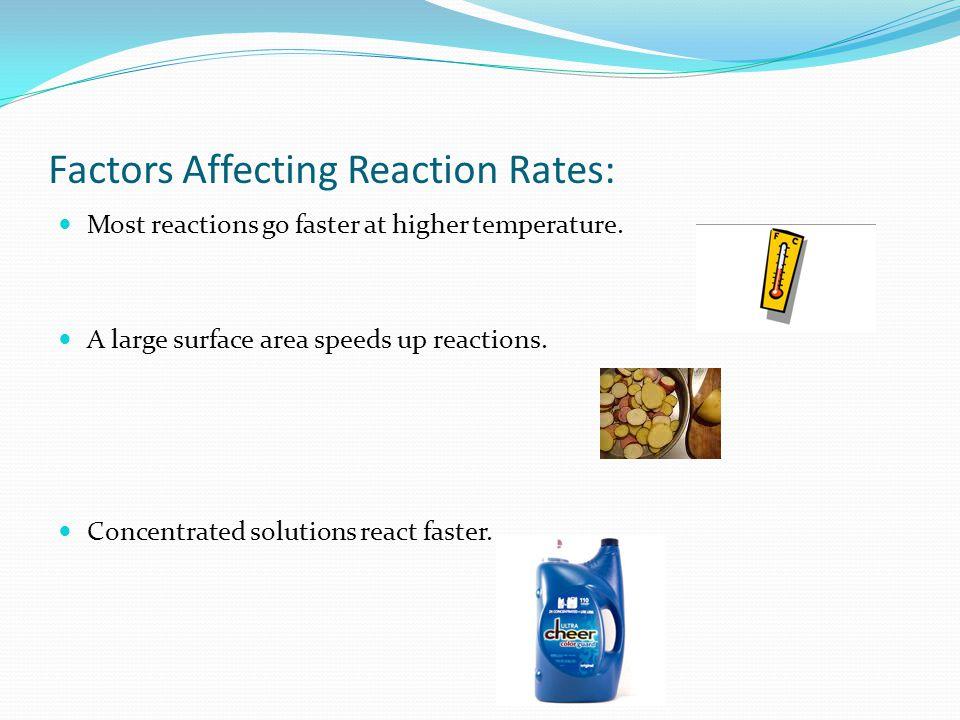 Factors Affecting Reaction Rates: