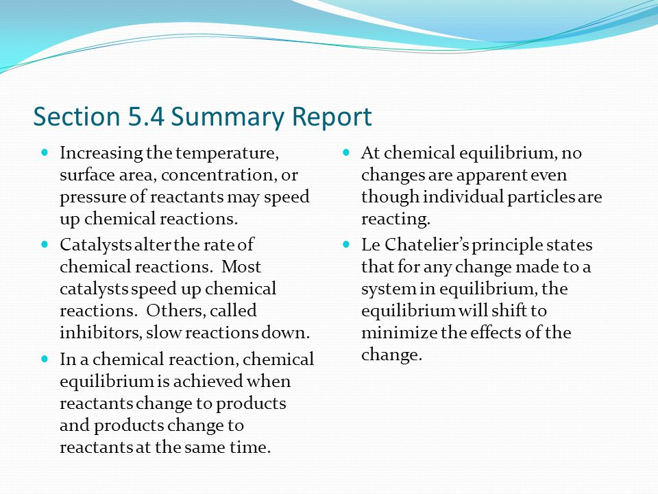 Section 5.4 Summary Report