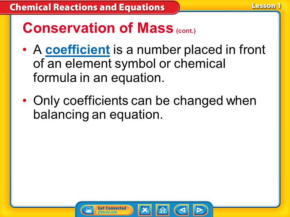 Conservation of Mass (cont.)