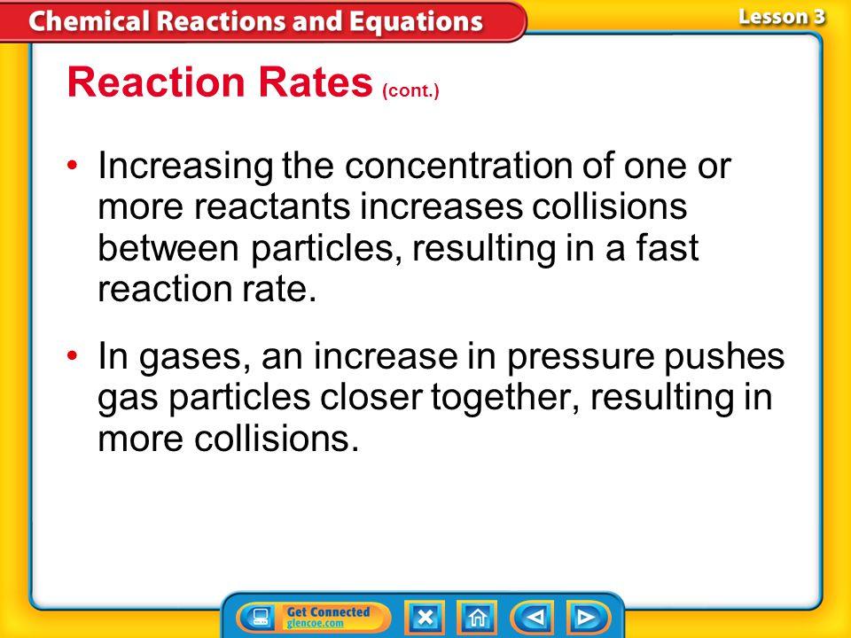 Reaction Rates (cont.)