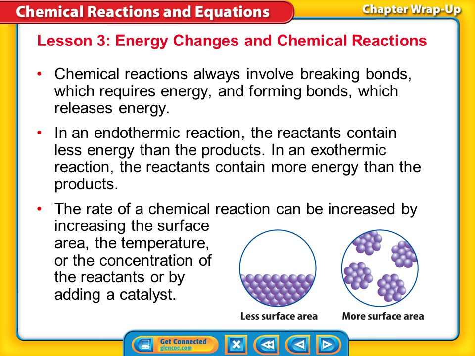 Lesson 3: Energy Changes and Chemical Reactions