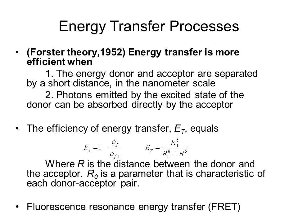 Energy Transfer Processes