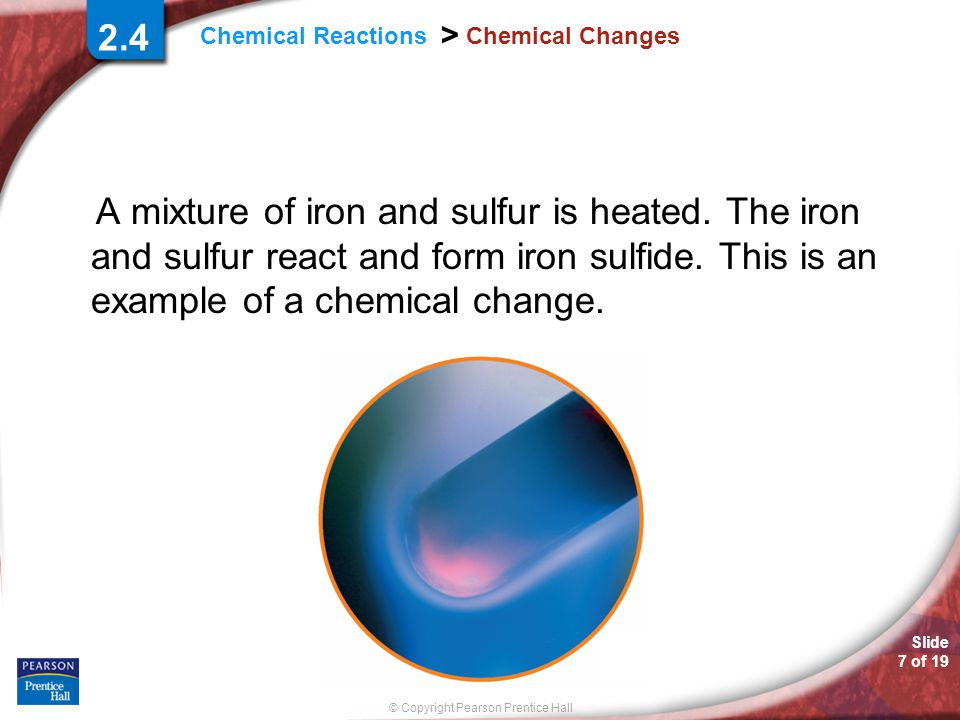 2.4 Chemical Changes.