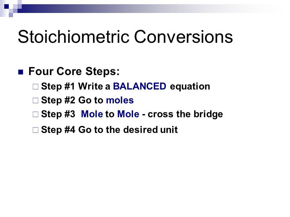 Stoichiometric Conversions