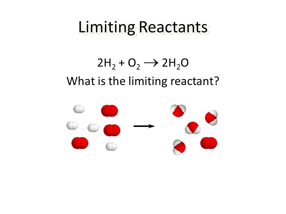What is the limiting reactant