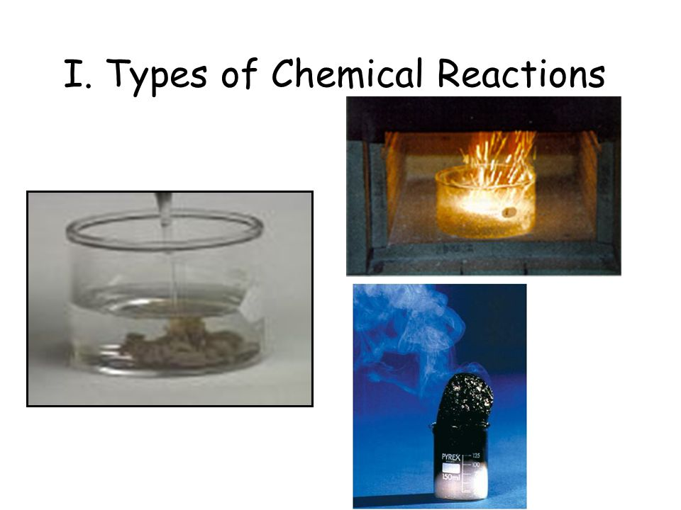 I. Types of Chemical Reactions