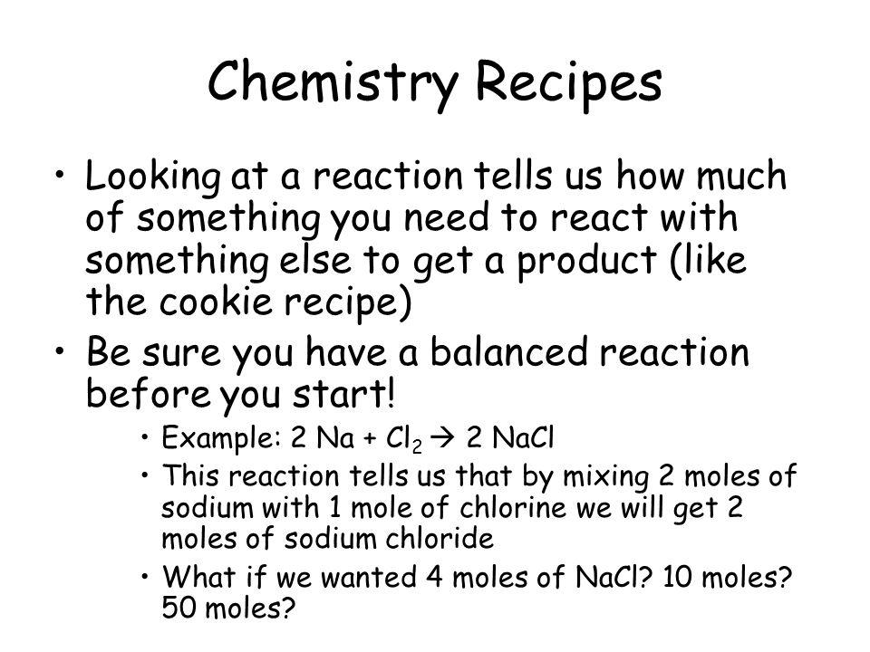 Chemistry Recipes
