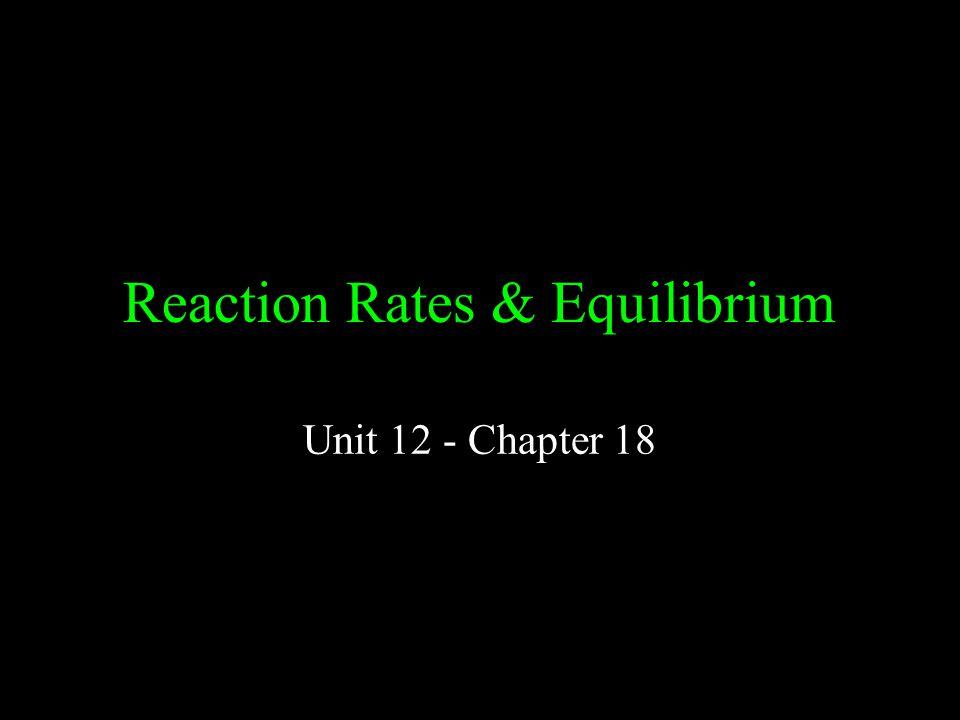 Reaction Rates & Equilibrium