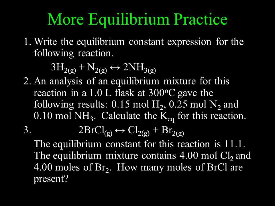 More Equilibrium Practice
