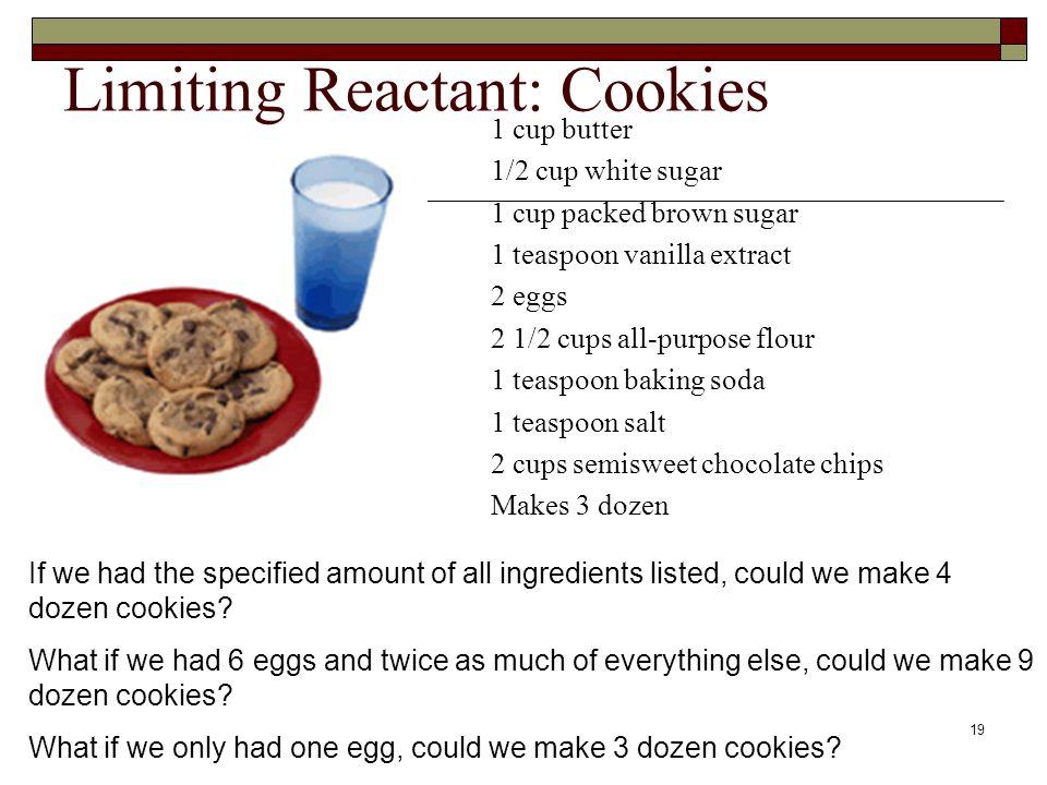 Limiting Reactant: Cookies