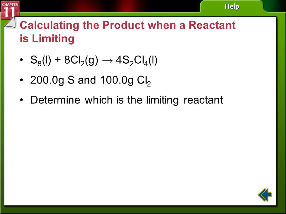 Calculating the Product when a Reactant is Limiting