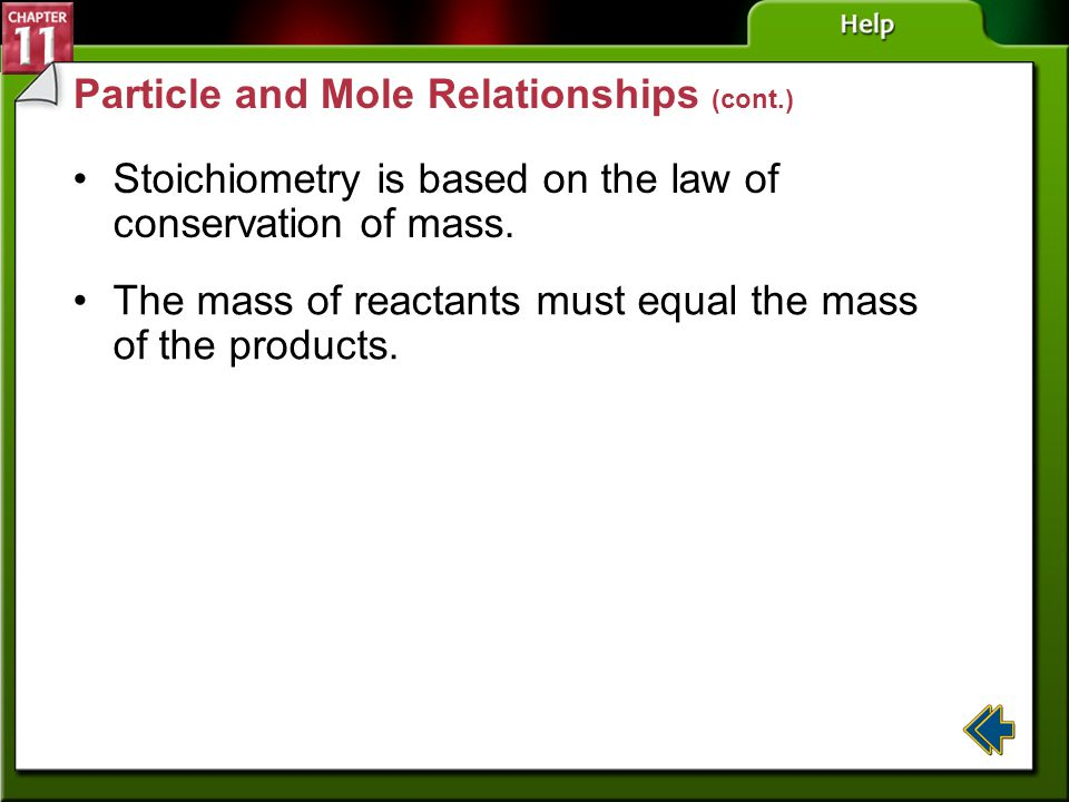 Particle and Mole Relationships (cont.)