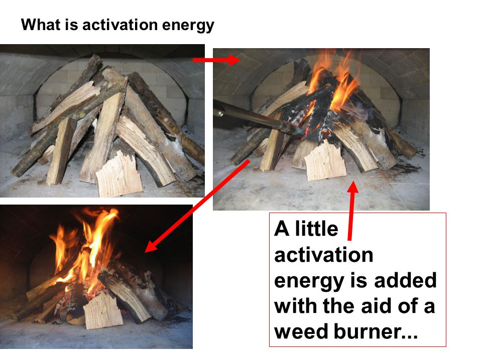 A little activation energy is added with the aid of a weed burner...