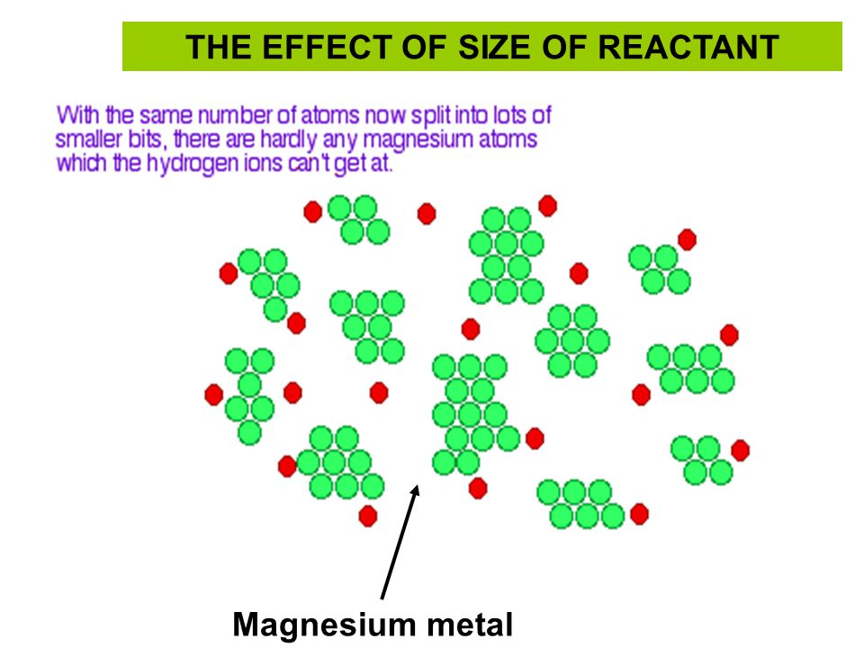 THE EFFECT OF SIZE OF REACTANT