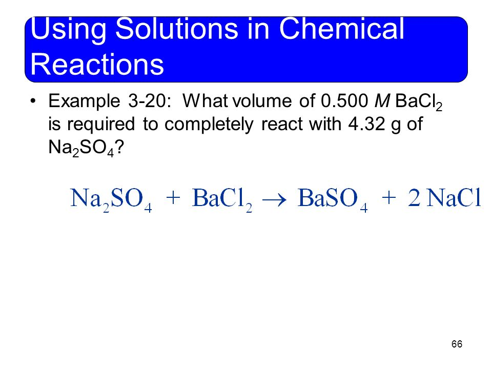 Using Solutions in Chemical Reactions