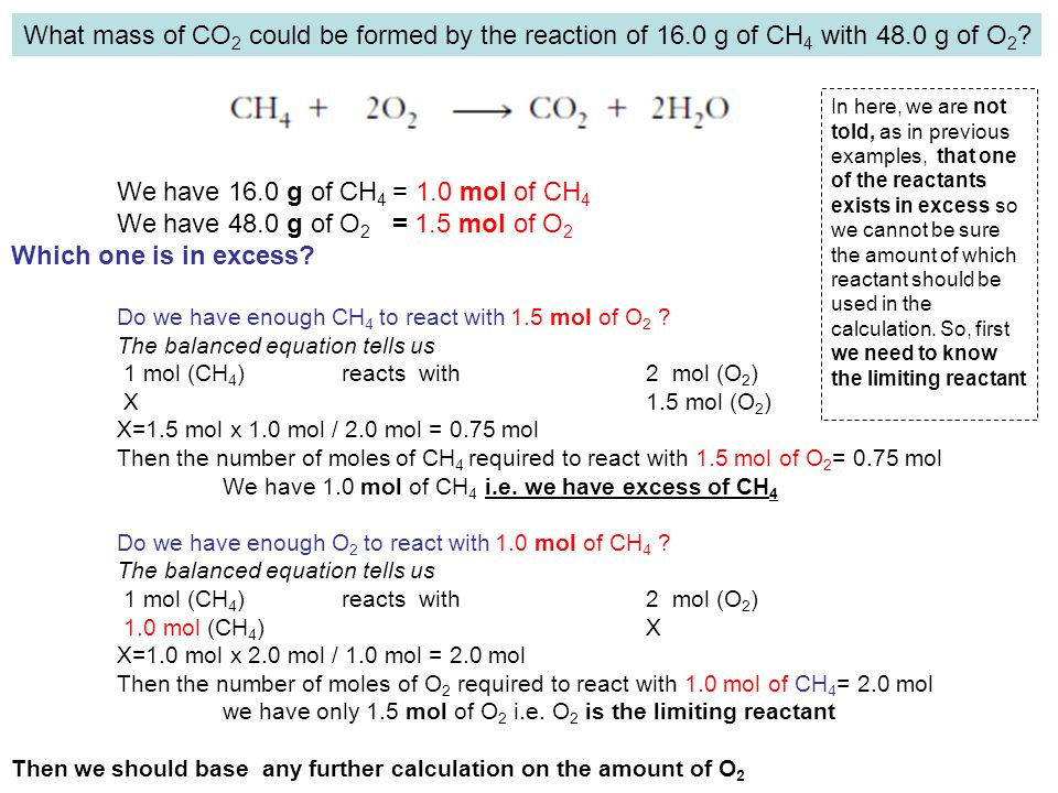 What mass of CO2 could be formed by the reaction of 16